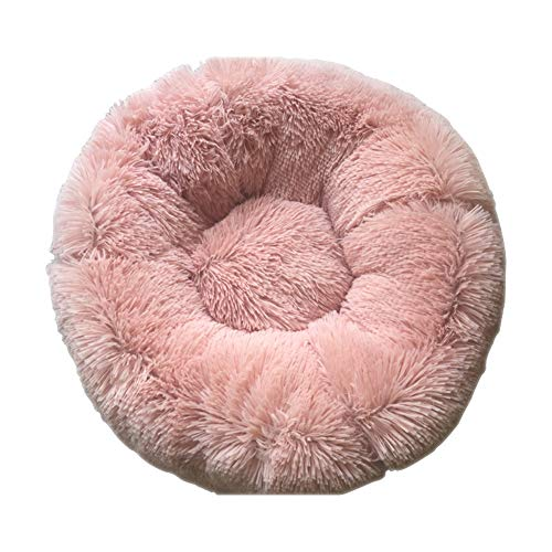 Hundebett / Haustiersofa, rutschfeste Unterseite, runde Form, weiches Donut-Haustierbett,...
