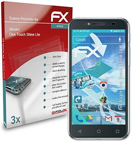 atFolix Schutzfolie kompatibel mit Alcatel One Touch Shine Lite Folie, ultraklare & Flexible FX Bildschirmschutzfolie (3X)