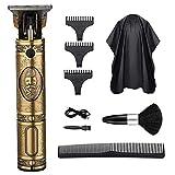 Tagliacapelli, Trimmer Elettrico Maschio Professionale USB con 3 Pettini Guida, 1 Mantella da Parrucchiere, 1 Spazzola e 1 Pettine per uso Domestico e Barbiere