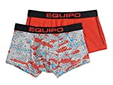 Equipo Men's 2-Pack Quick Dry Performance Stretch Brazilian Trunks (Large, Flame Scarlet)