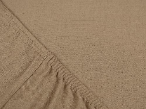 #6 npluseins Kinder-Spannbettlaken, Spannbetttuch, Bettlaken, 70×140 cm, Sand - 4