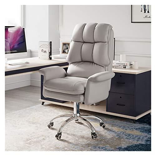 JMXAFMY Gambling Sitz, ergonomischer Gambling Stuhl für Büro, verstellbarer drehbarer Spielstuhl, abnehmbare Rückenlehne, Spielsitz (Farbe: Grau)