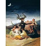Doppelganger33 LTD Painting Fantasy Landscape Goya Witches