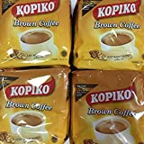 4 Kopiko 3 in 1 Brown Instant Coffee (4 pack x 10 sachets) Ships from California