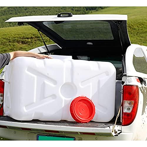 Recipiente de Barril de Agua de Emergencia Horizontal para automóvil, protección del Medio Ambiente, Tanque de Almacenamiento de Agua de plástico con Tapa Grande para Almacenamiento de Agua
