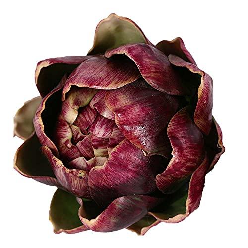Shiyi Künstliche Artischocke, künstliche Blumen, Kunststoff, künstliches Gemüse, Obst für Hochzeit, Party, Heimdekoration, Tafelaufsatz, Blumenarrangement (klein, weinrot)