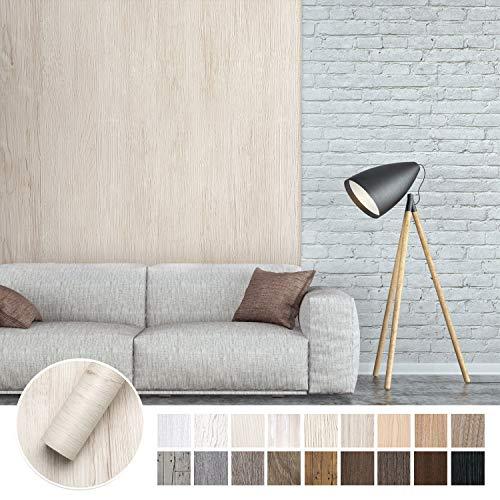 KINLO Papel Adhesivo Pintado Impermeable con la Imagen de Madera Pegatina de PVC para Decorar y Proteger Pegatina para Muebles Cocina Baño a Prueba de Agua de Moho 0.6 * 5M per Rollo