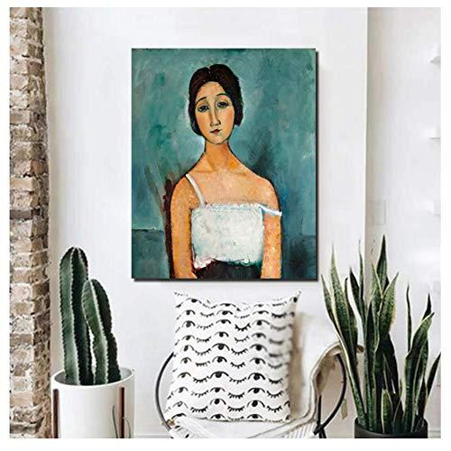 5STARS N&R Amedeo Modigliani Christina Canvas Painting Print Living Room Home Decor Artwork Modern Wall Art-50x70cm Frameless