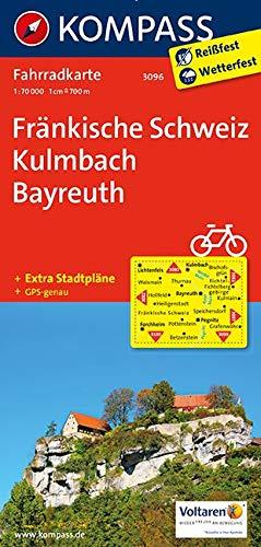 KOMPASS Fahrradkarte Fränkische Schweiz, Kulmbach, Bayreuth: Fahrradkarte. GPS-genau. 1:70000 (KOMPASS-Fahrradkarten Deutschland, Band 3096)