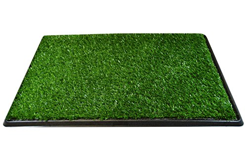 Downtown Pet Supply Dog Pee Potty Pad, Bathroom Tinkle Artificial Grass Turf, Portable Potty Trainer (20 x 30 Inch - 3 Layers)
