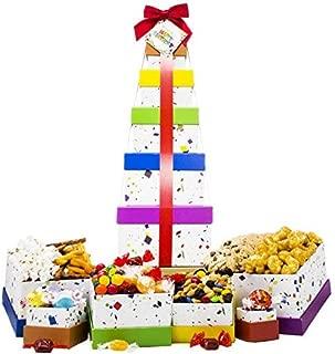 Happy Birthday Celebration Gift Basket Box Tower 16
