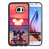 DISNEY COLLECTION Mickey Mouse Sunset Phone Cover for Samsung Galaxy S7 Black Shockproof TPU and Hard PC Back Design