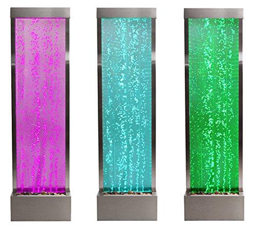 Sprudelnde Wasserwand mit bunter LED-Beleuchtung, 184cm