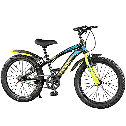 Lifelong LLBC2001 Tribe 20T Cycle (Yellow and Black) I Ideal for: Kids (5-8 Years) I Frame Size: 12' | Ideal Height : 3 ft 10 inch+ I Unisex Cycle| 85% Assembled (Easy self-Assembly)