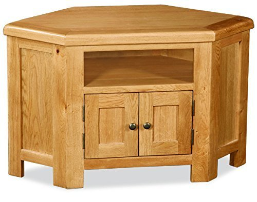 Zelah Oak Corner TV Stand - TV Unit - Oak TV