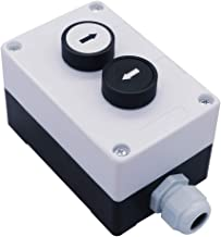 mxuteuk 1 NO Black 1 NO White momentary Switch Control Up-Down Switch Station Box Pushbutton Switches ,1 Year Warranty HZ-SX