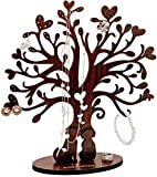Wooden Jewelry Tree of Life 12.2 Inch Tall, Giftable bracelet Tree, Necklace Tree Holder Earring Tree for Women and Girls. Cute Scrunchie Holder and Baby Headband - Decorative and Stylish