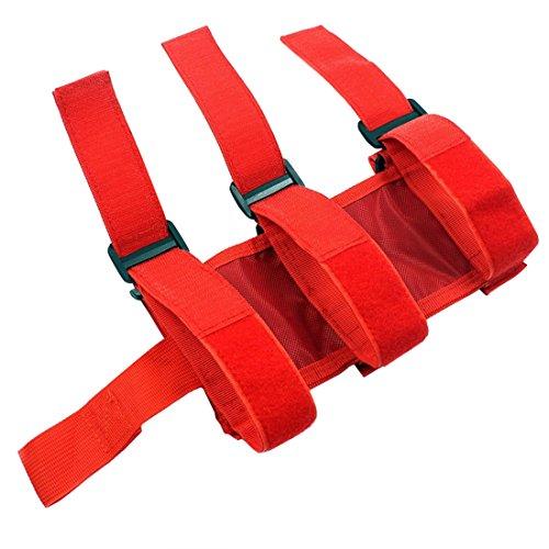 Adjustable Roll Bar 3 lb Fire Extinguisher Holder for 2007-2018 Wrangler JK Car Truck UTV MINGLI Vehicle Extinguisher Strap Mount Bracket Strap (Red)
