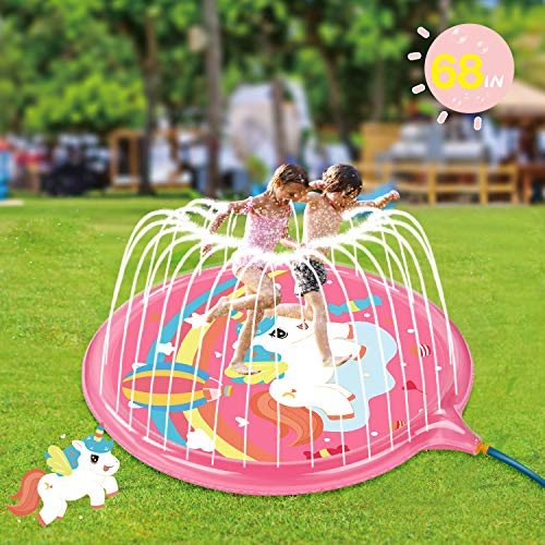 Soopotay Splash Play Mat for Girls, Sprinkler Pad for Kids...