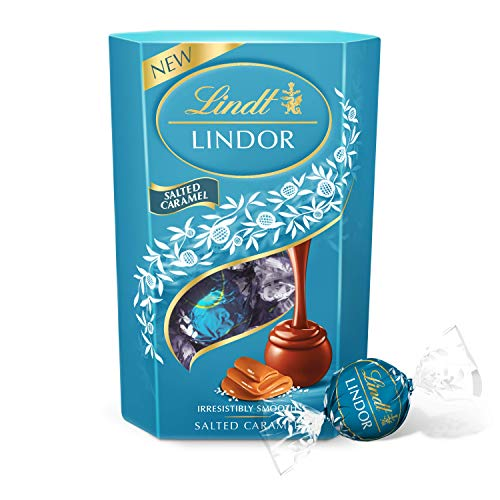 NEW: Lindt Lindor Milk Chocolate Salted Caramel Chocolate Gift Box, 200 g