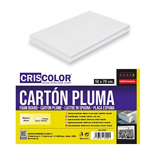 CRISCOLOR CARTÓN PLUMA BLANCO 50x70cm.