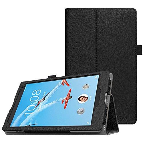 Fintie Hülle für Lenovo Tab4 8 Plus - Folio Kunstleder Schutzhülle Tasche Etui Hülle mit Auto Schlaf/Wach Funktion für Lenovo Tab 4 8 Plus 20,32 cm 8 Zoll Tablet-PC (Not für Lenovo Tab4 8), Schwarz