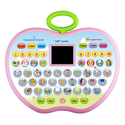 KIDTOY Toys for 3 Year Olds Girls, Learning Tablets Gift for 3 Year Old Boys Kids Educational Computer Toy for 36-48 Months Baby Girl Boy Children Birthday Gifts 3-5 Year Olds