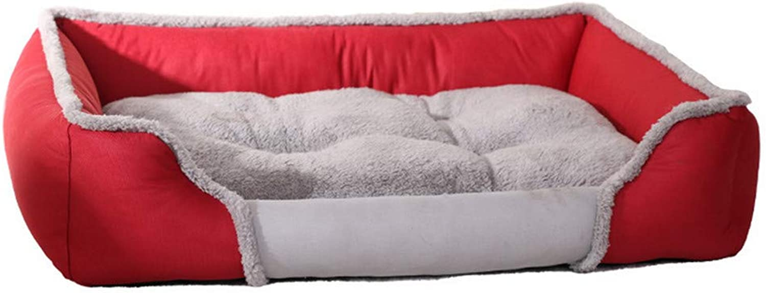 Mzdpp Warm Dog Bed Pet Nests Breathable Doghouses Removable And Washable SmallX Large 66  54  16 Cm