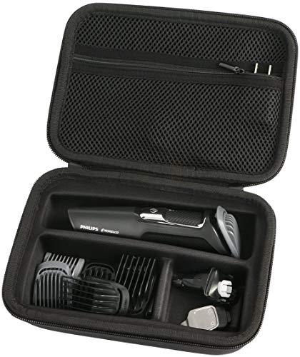 para Philips MG5740/15 MG3720/15 MG3730/15 MG5720/15 MG3740/15 Recortador de barba y precisión EVA Duro Viaje Estuche Bolso Funda por Khanka.