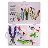 CHSEEO 34PCS Cebo de Pesca Señuelos de Pesca con Ganchos Cebos Artificial Swimbait Manivela Cebo Cucharillas Pesca Accesorios Aparejos De Pesca para la Pesca #1
