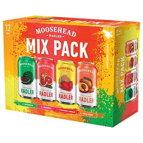 Moosehead Radler Mix Pack 355ml 4{1dc115f3bf84920817c2f40cb5bc810334f3561f590779a49f9ee5ca22a74b0d} Vol. 12er Pack Wassermelone, Grapefruit, Erdbeer-Lemonade und Pfirsich-Mango