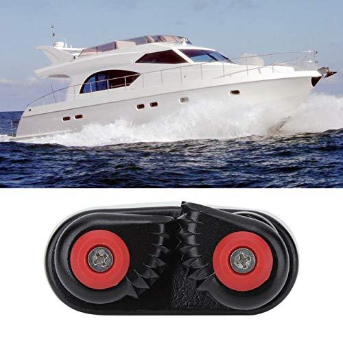 Cam Cleat - Equipo de vela y veleros - Aleación de aluminio Tamaños de línea hasta 0.59 pulgadas 15 mm Entrada rápida Cam Cleat Cuerda Hebilla de sujeción Ancla para velero Velero Kayak Yate