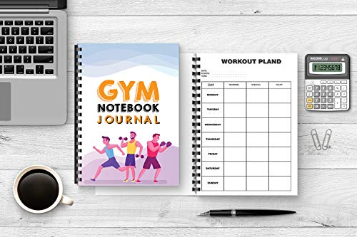 No 9, Notebook: 'GYM JOURNAL', For Men, size 6-9 inches, 200 pages, recording Gym schedule, tips to help you have 6 pack abs in 3 months. (English Edition)