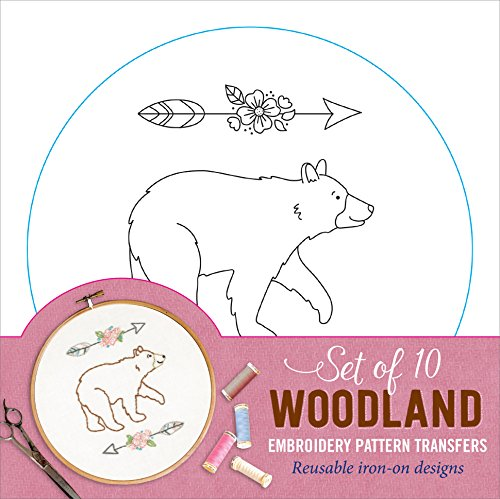 Learn More About Woodland Embroidery Pattern Transfers (set of 10 hoop designs!)