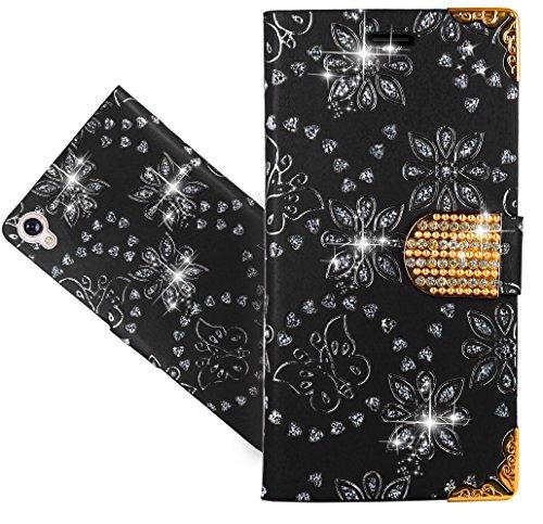 "Asus Zenfone Live ZB501KL (5.0"") Coque, FoneExpert® Etui Housse Coque en Cuir Bling Diamond Portefeuille Wallet Case Cover Pour Asus Zenfone Live ZB501KL (5.0"")"