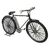 Pamer-Toys Bicicleta de chapa de estilo retro antiguo, color negro
