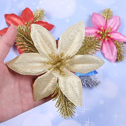 belupai Guirnalda de flores artificiales de Navidad, diseño de árbol de Navidad, de ratán, para festivales, bodas, hogares, etc