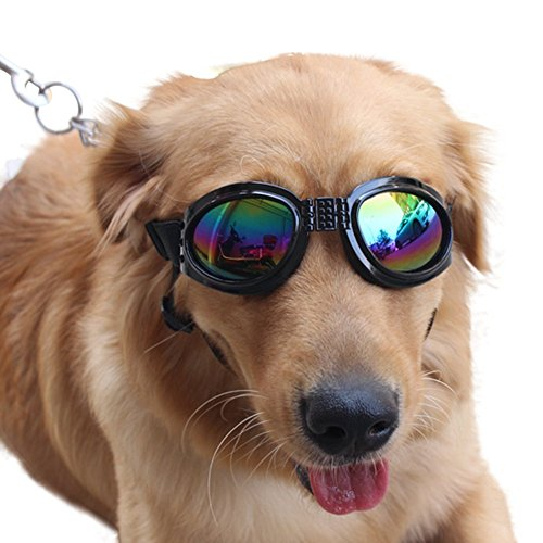 NACOCO Pet Glasses Dog Sunglasses Dog Glasses Golden Retriever Samoyed Sunglasses Goggles Big Dog...