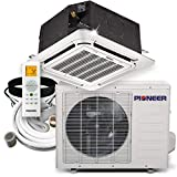 Pioneer Air Conditioner CYB018GMFILCAD 8-Way Compact Cassette Mini-Split Ductless Inverter with Heat Pump, 18000 BTU