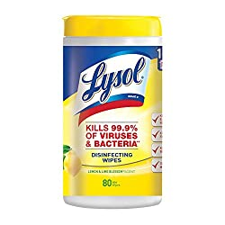 Lysol Disinfecting Wipes, Lemon, 80 Count (Pack of 1)
