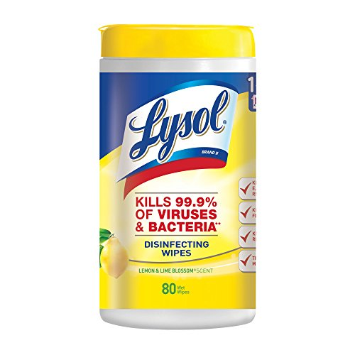 80-Count Lysol Disinfecting Wipes (Lemon & Lime Blossom) $3.68 + free shipping w/ Prime or on orders over $25