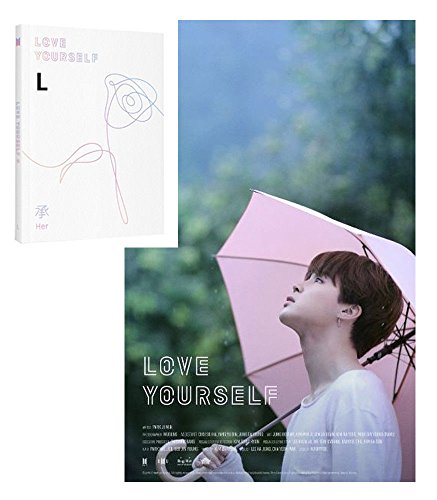 BTS – Love Yourself & # x627 F; [su] [L Ver.] + Fotos + photocard + doblada Póster