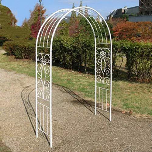 Rosenbogen aus Metall, Arbor Archway für Kletterpflanzen Roses Vines, Garten Garten Rasen Hinterhof Patio (Schwarz, Weiß)
