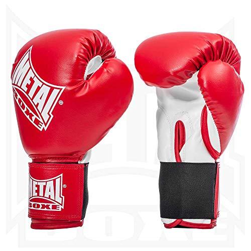 Metal Boxe - Guanti da Boxe, Rosso, 6 oz