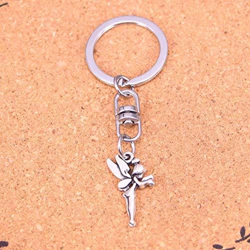 DdA8yonH Schlüsselbund Silberfarbenes Metall Vintage Angel Fairy Tinkerbell Schlüsselanhänger Zubehör & verchromte Schlüsselanhänger