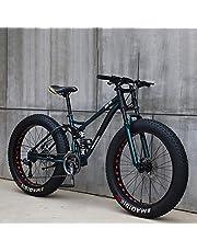 F-JX Adulte VTT, Vélo à Vitesse Variable avec 4,0 Gros Pneu, Adulte mâle et Femelle étudiants vélo, Route Hors Route Plage motoneige