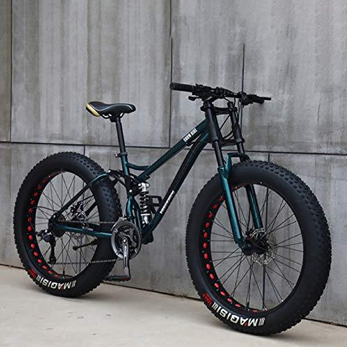 F-JX Adulte VTT, Vélo à Vitesse Variable avec 4,0 Gros Pneu, Adulte mâle et Femelle étudiants vélo, Route Hors Route Plage motoneige,Bronze,26 inch 27 Speed