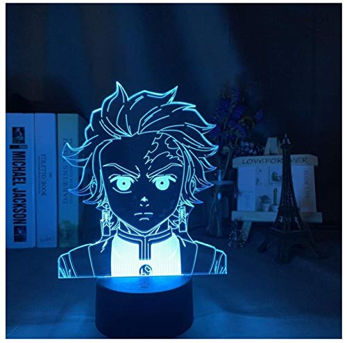 3D LED Night Light Lamp 3D Illusion Lamp for Kids Dimmable Brightness Light for Home Decoration and Gifts for Lovers, Parents, Friends Anime boy-Touch