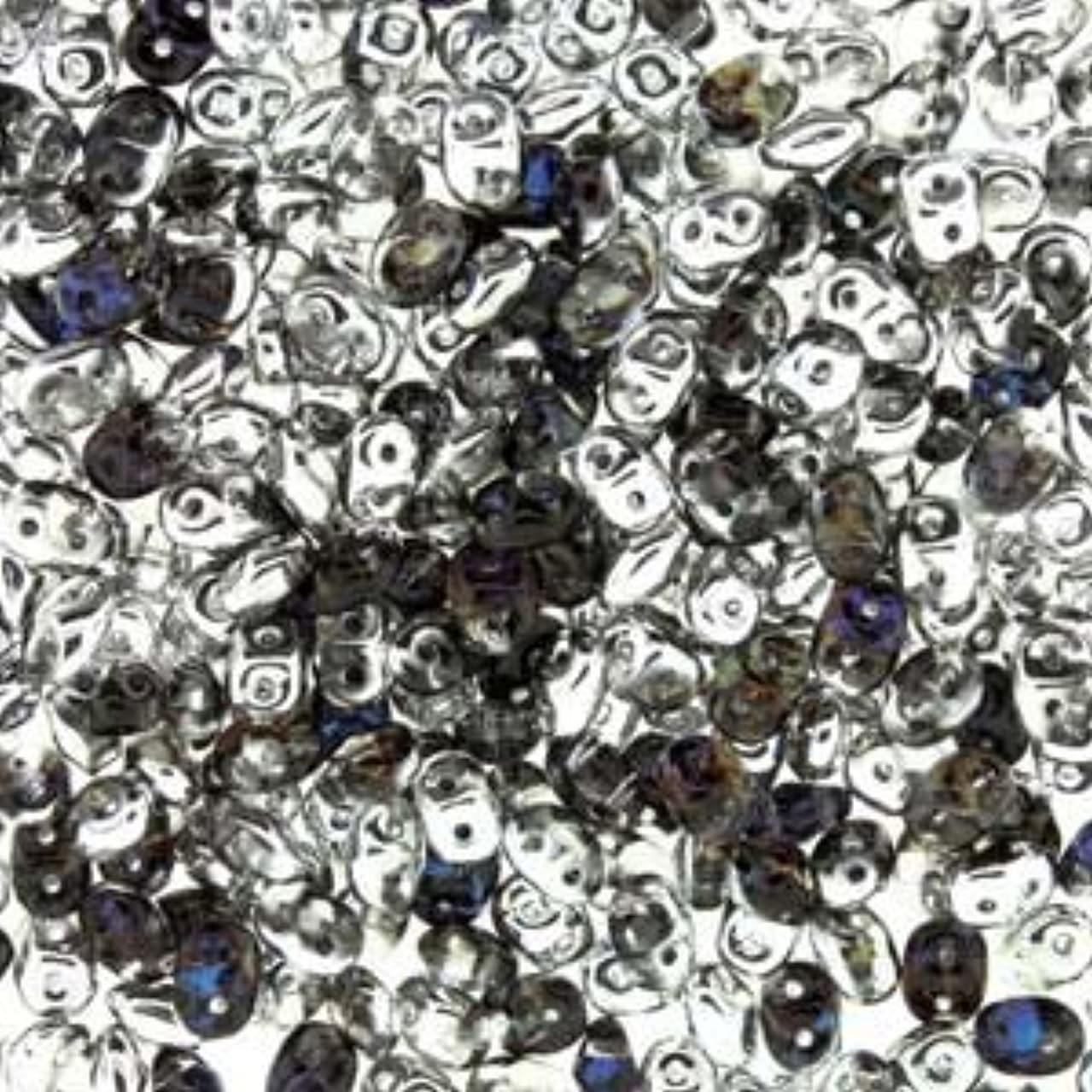 Czech SuperDuo Two-Hole Seed Crystal Beads 5.5x2.5mm Helio 24 Gram