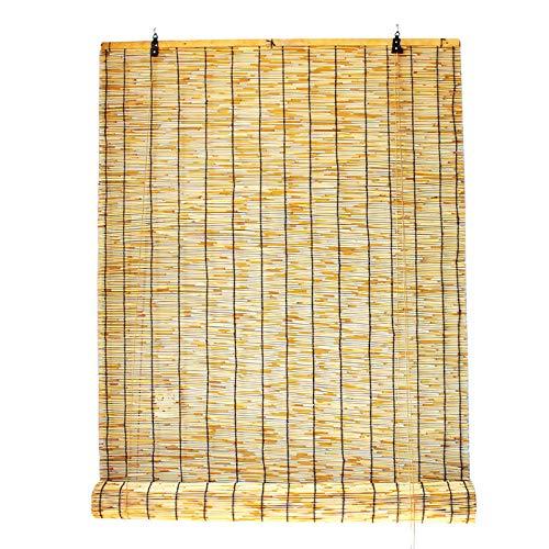 KDDEON Persianas de Caña Natural Tejida a Mano,Decoración de Pared Persianas Enrollables de Bambú,Estores de Bambú para Ventana Cortina para Terrazas,Restaurantes,Pabellones (160x300cm/63x118in)